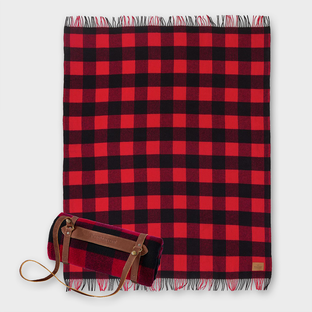 Pendleton Carry Along Motor Robe Wool Throw with Carrier - Rob Roy Tartan