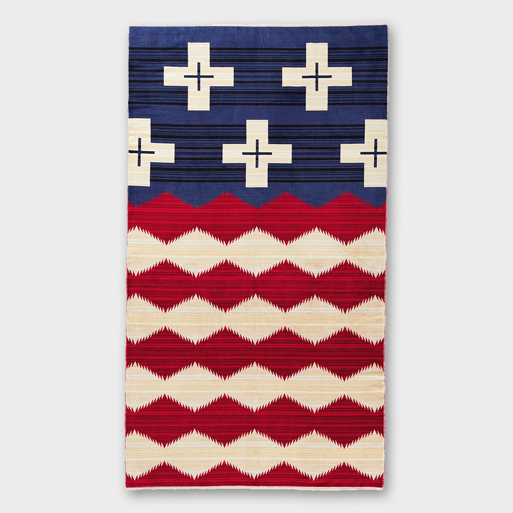 Pendleton Oversized Jacquard Spa Towel Brave Star - Red, White & Blue