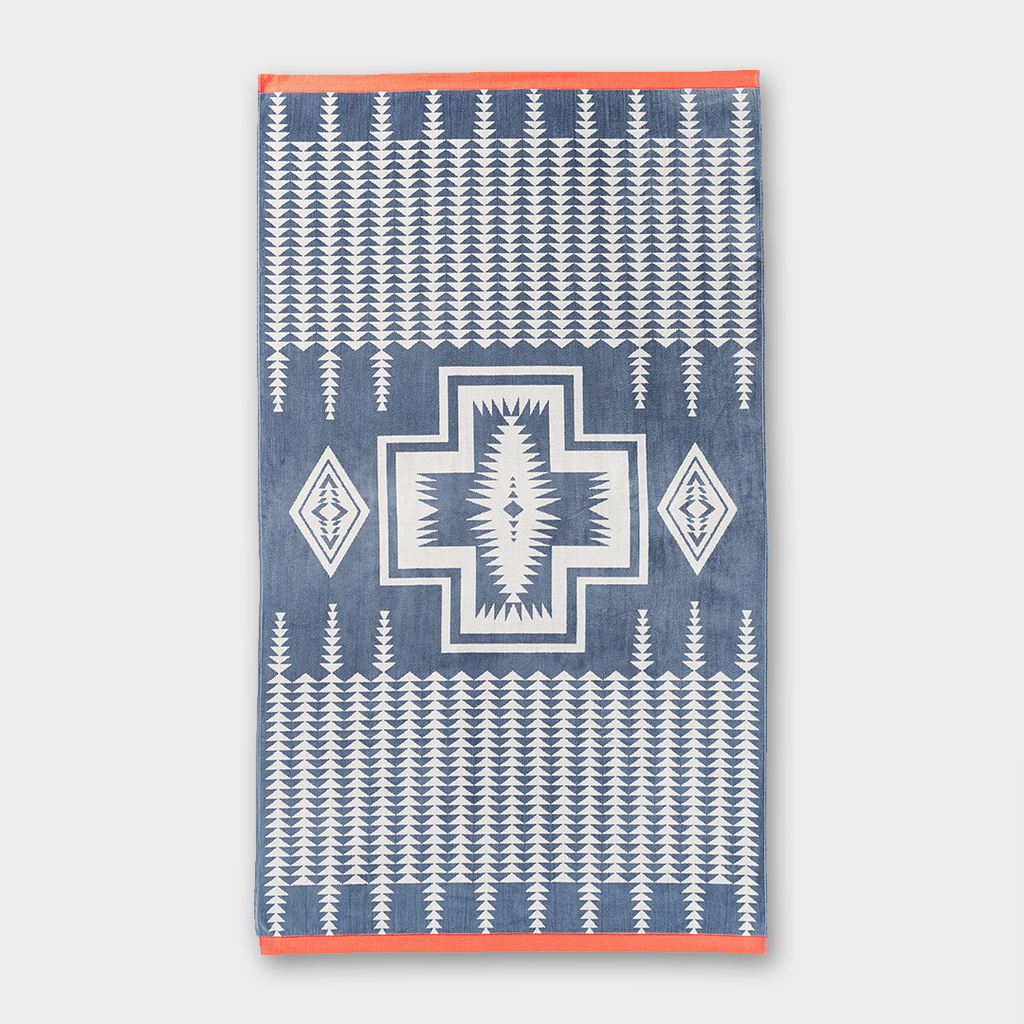 Pendleton Oversized Jacquard Spa Towel Harding - Grey