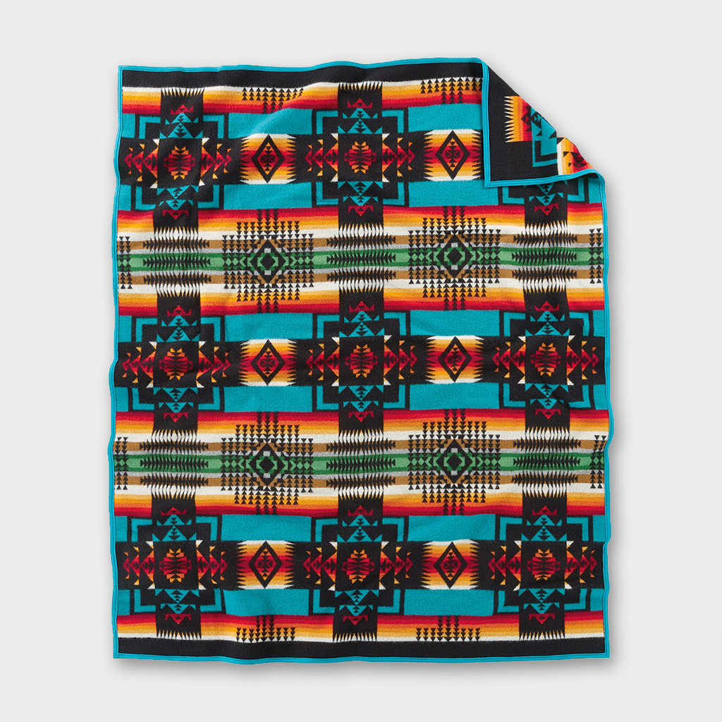Pendleton Wool Blanket Chief Joseph - Black