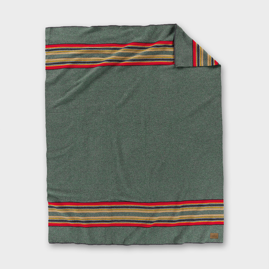 Pendleton - Yakima Camp Wool Throw - Green Heather Mix