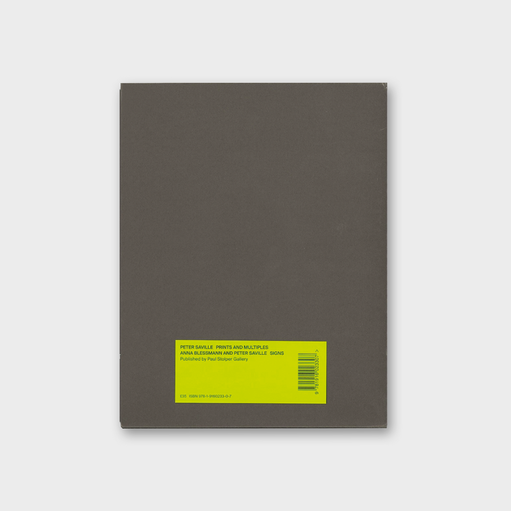 Peter Saville - Prints And Multiples Book