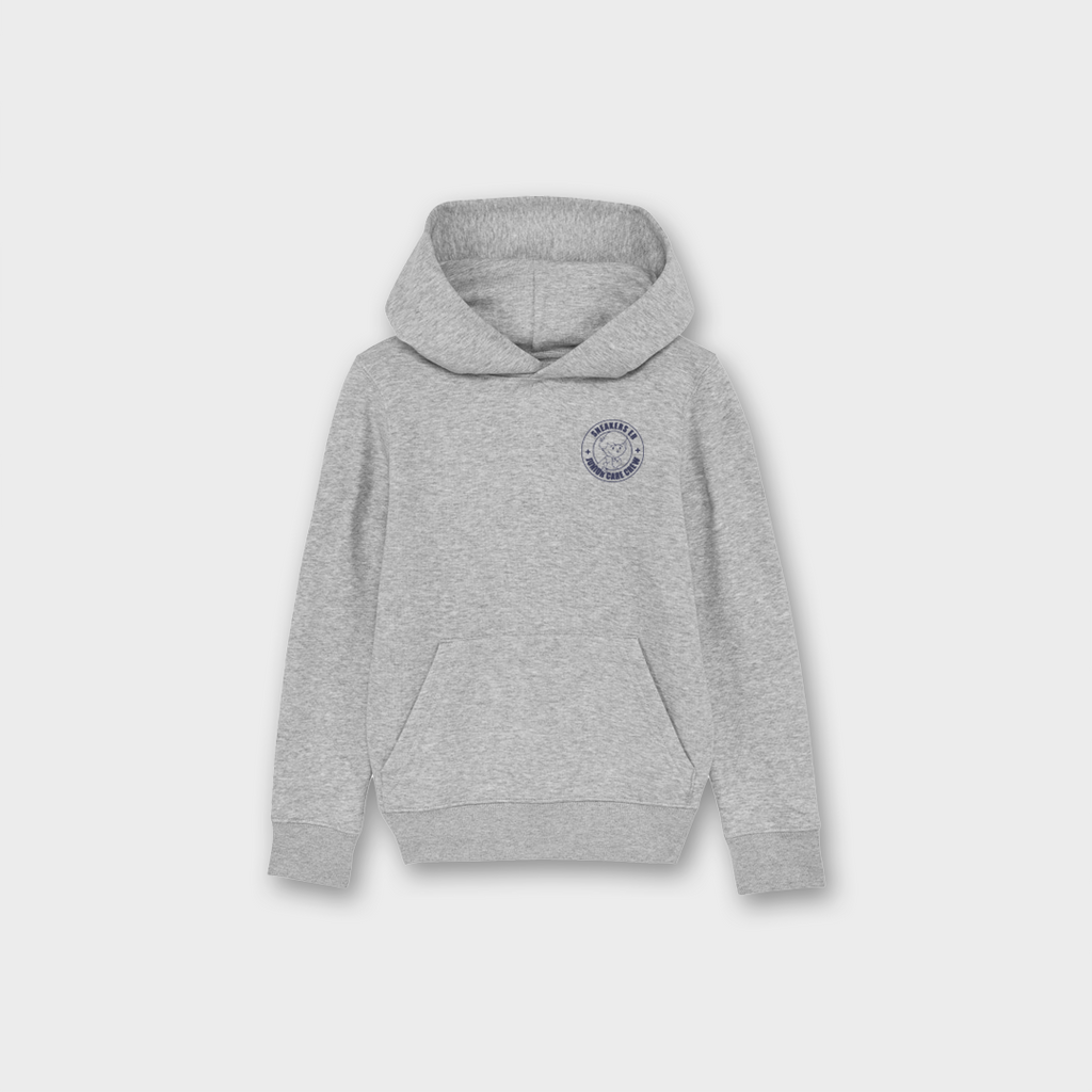 Sneaker Laundry Glasgow Junior Care Crew Boys Organic Brushed Sweatshirt - Heather Grey / Navy
