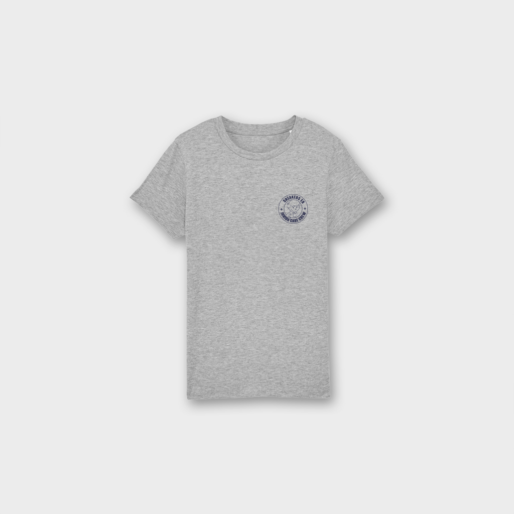 Sneaker Laundry Glasgow Junior Care Crew Boys Organic T-Shirt - Heather Grey / Navy