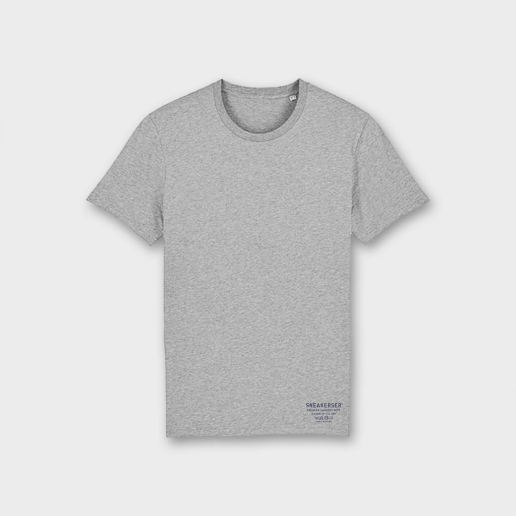 Sneaker Laundry Glasgow Basic Organic T-Shirt - Heather Grey / Navy
