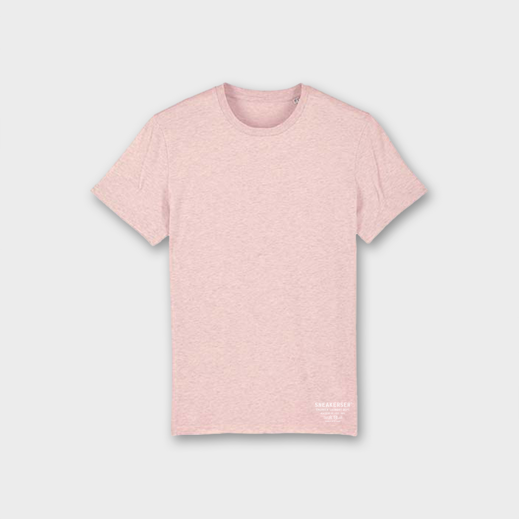 Sneaker Laundry Glasgow Basic Organic T-Shirt - Heather Pink / White