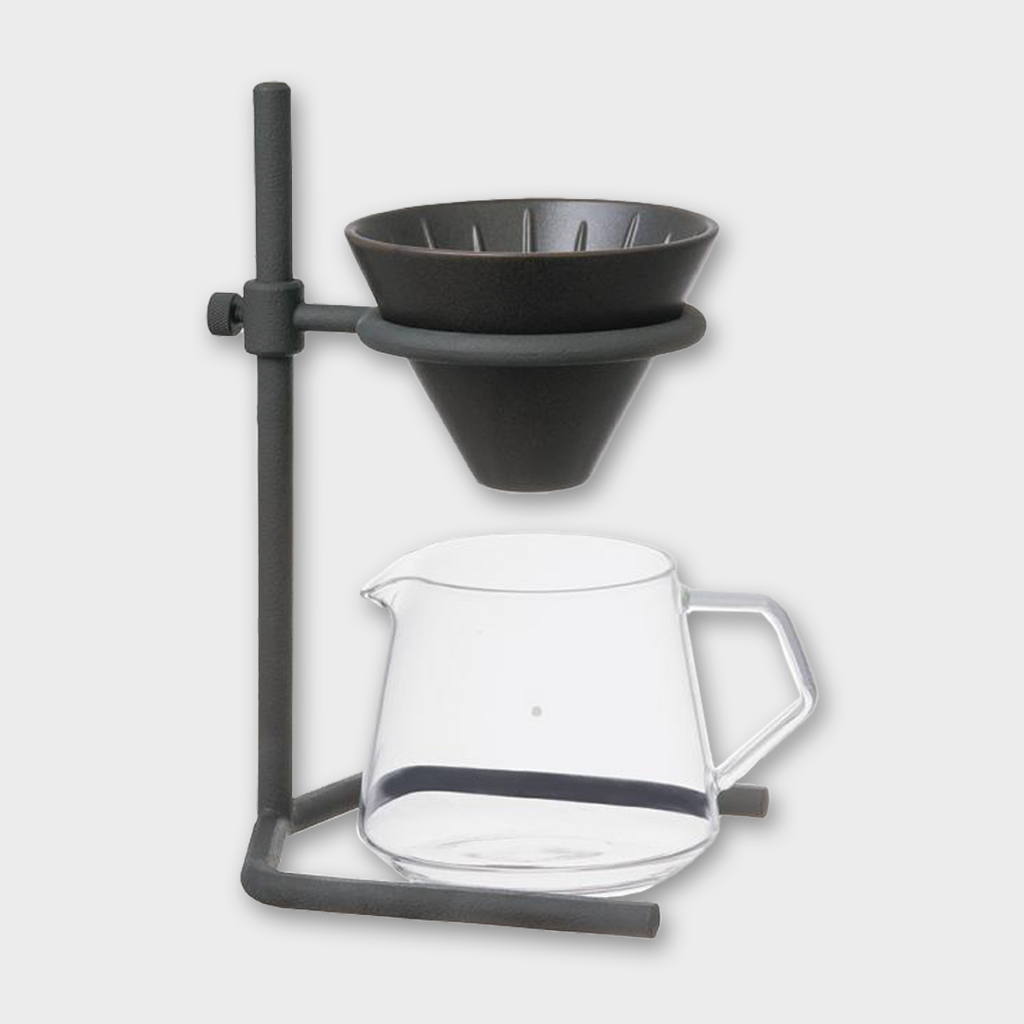 Kinto Japan Coffee Brewer Stand Set 2 Cup - Black / Stainless
