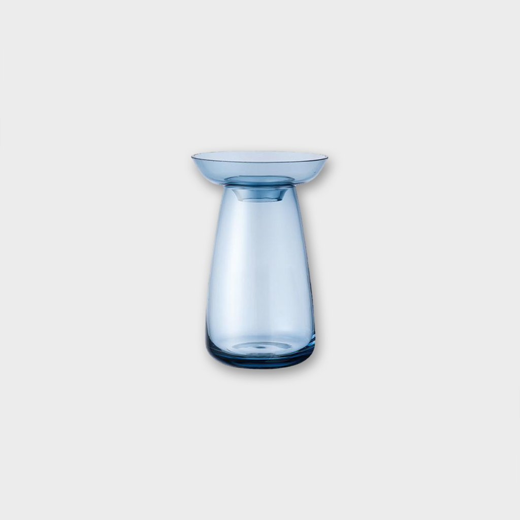 Kinto Japan Aqua Culture Small Glass Flower Vase - Blue 200ml