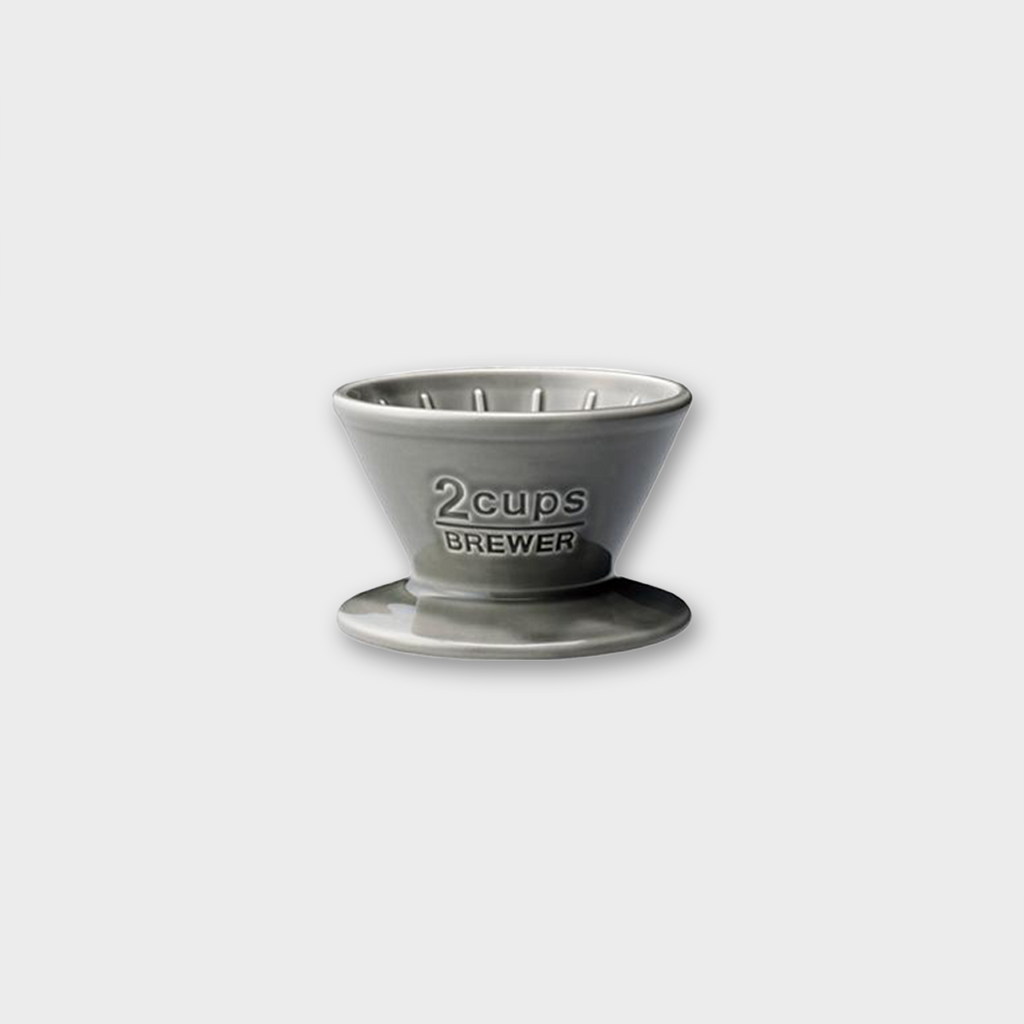 Kinto Japan Porcelain Coffee Brewer 2 Cup - Grey