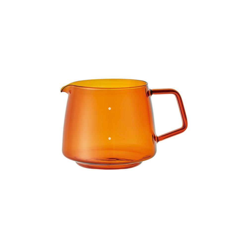 Kinto Japan Sepia Glass Coffee Jug Server - Amber 600ml