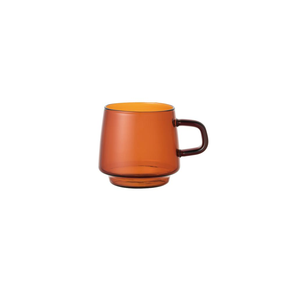 Kinto Japan Glass Coffee Mug - Amber 340ml