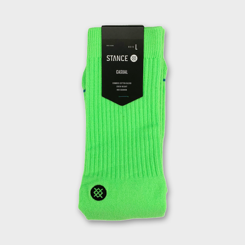 Stance Icon Socks - Neon Green