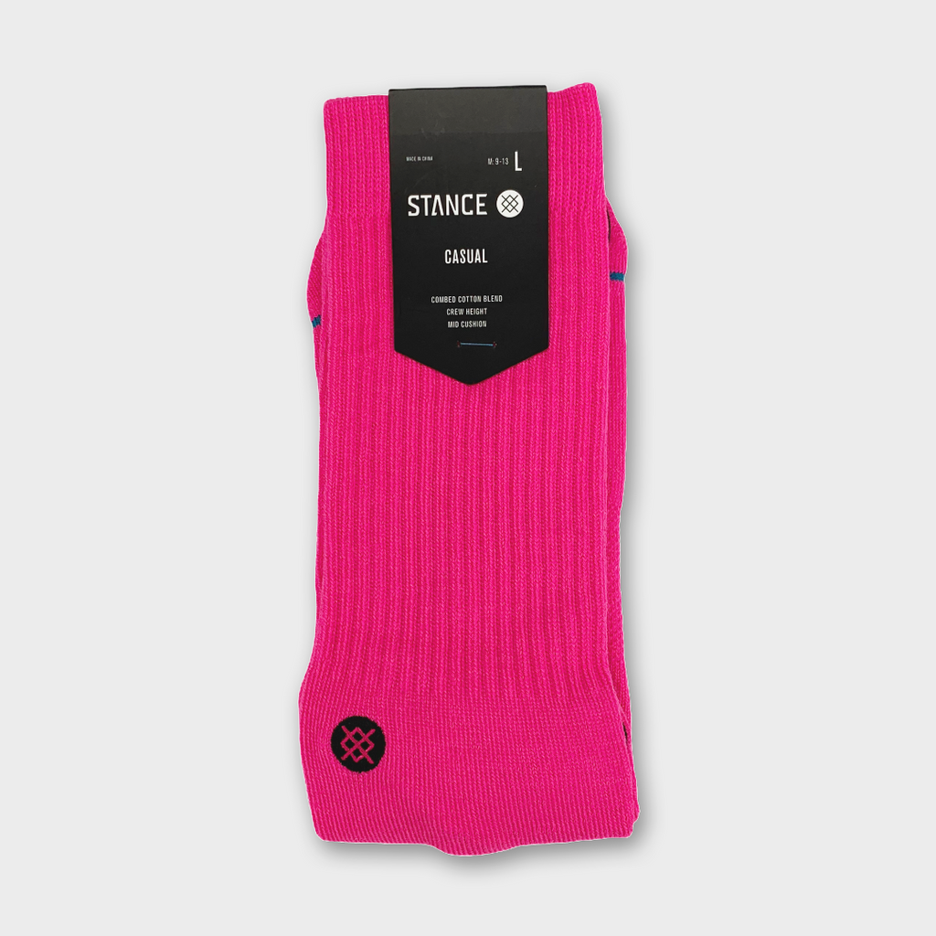 Stance Icon Socks - Neon Pink