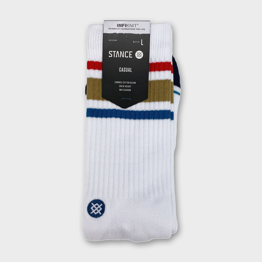 Stance Boyd Staple Infiknit Socks - White / Brown