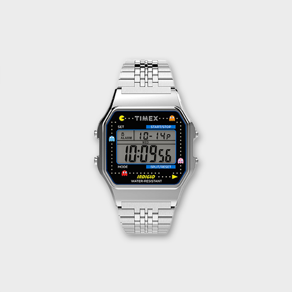 Timex X Pac Man 34mm Stainless Steel Bracelet Watch - Silver