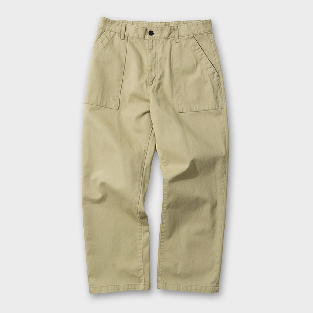 Uniform Bridge Broken Fatigue Pants - Beige