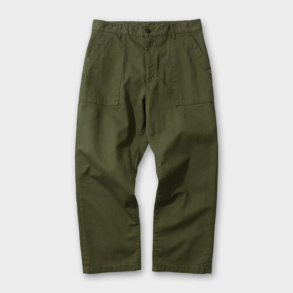 Uniform Bridge Broken Fatigue Pants - Khaki