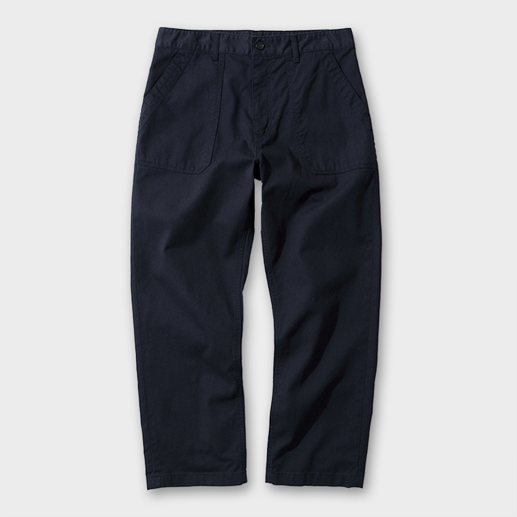 Uniform Bridge Cotton Fatigue Pants - Navy