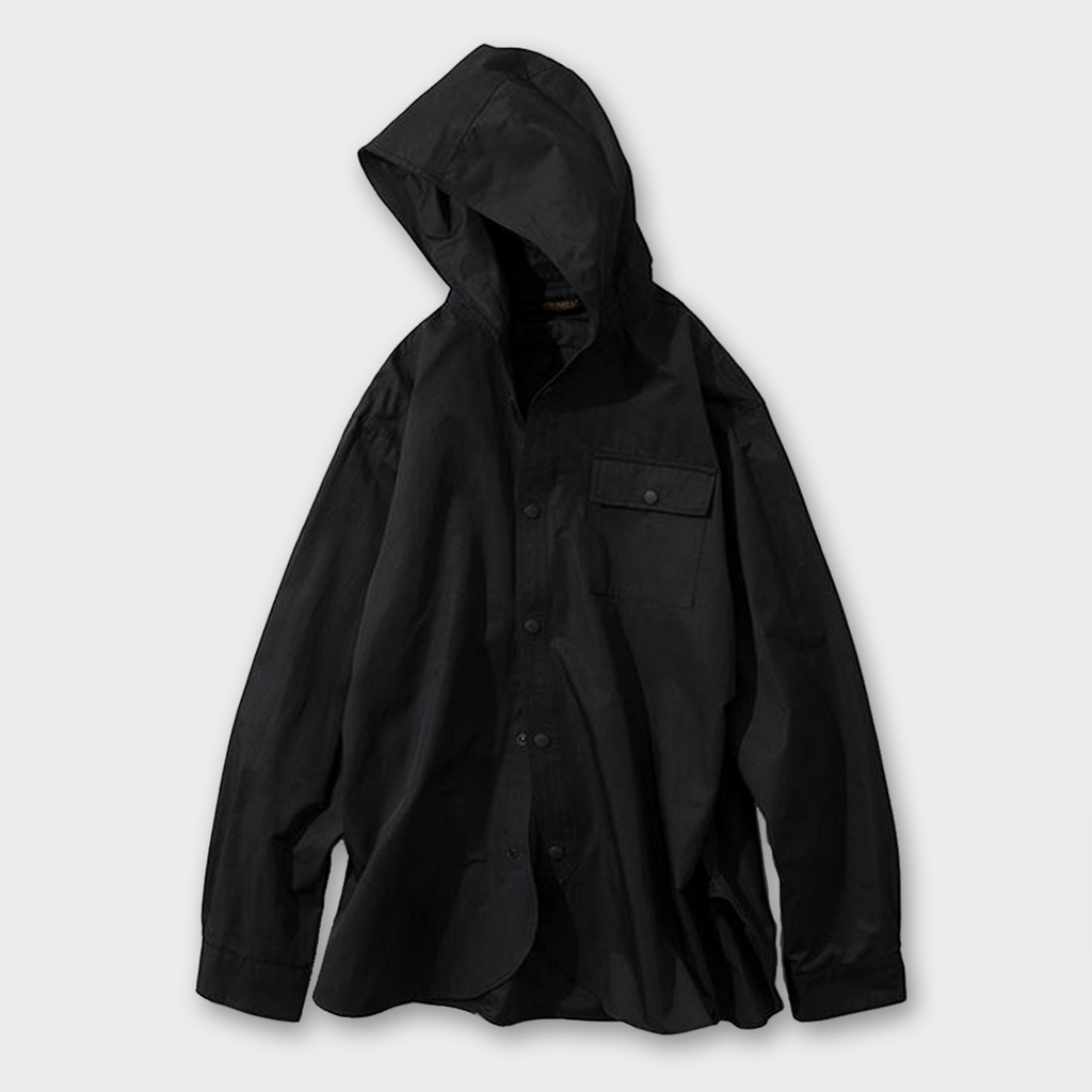 Uniform Bridge Hooded Shirt - Black