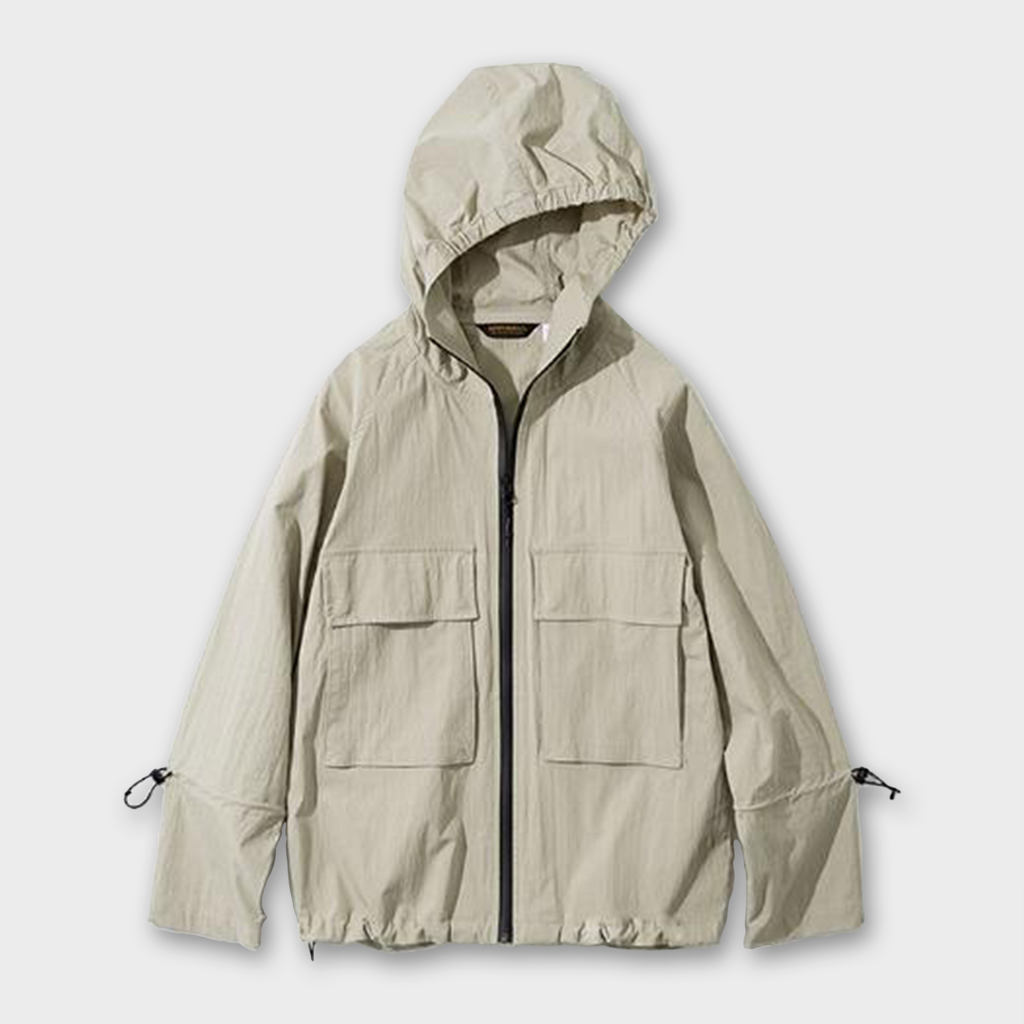 Uniform Bridge Hooded Zipup Jacket - Beige