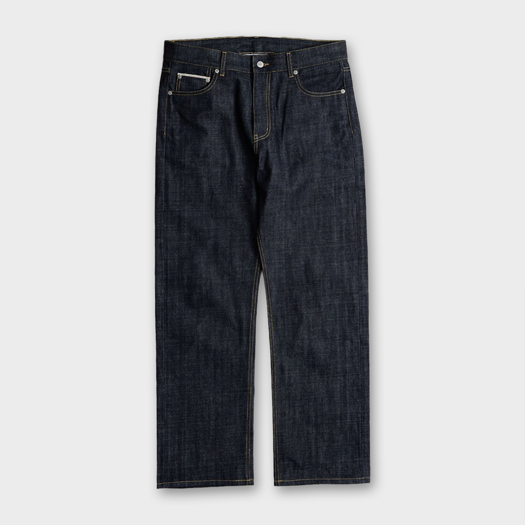 Uniform Bridge Selvedge Denim Pants - Deep Indigo