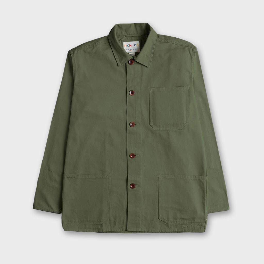 Uskees #3001 Organic Cotton Work Overshirt - Army Green