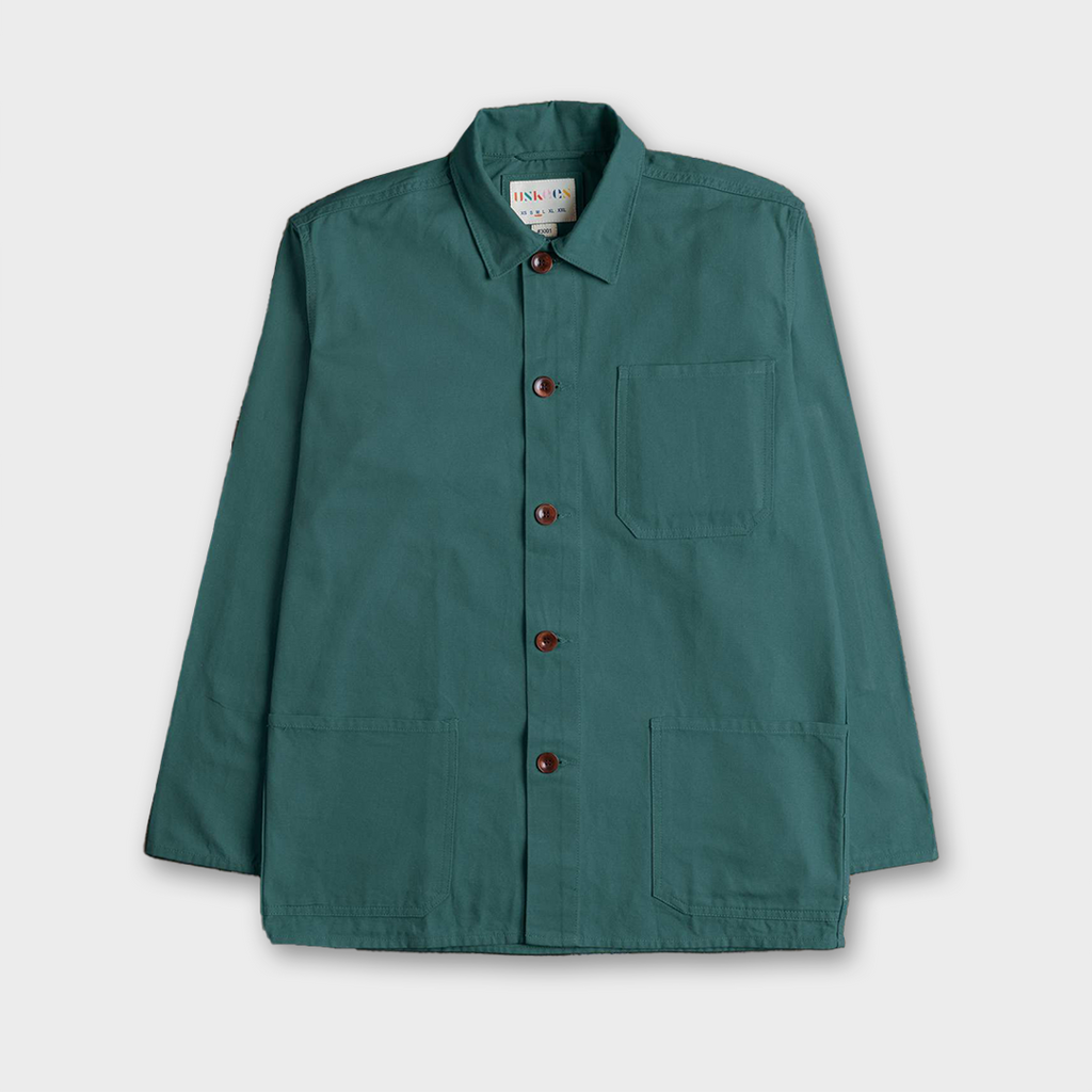Uskees #3001 Organic Cotton Button Work Overshirt - Green
