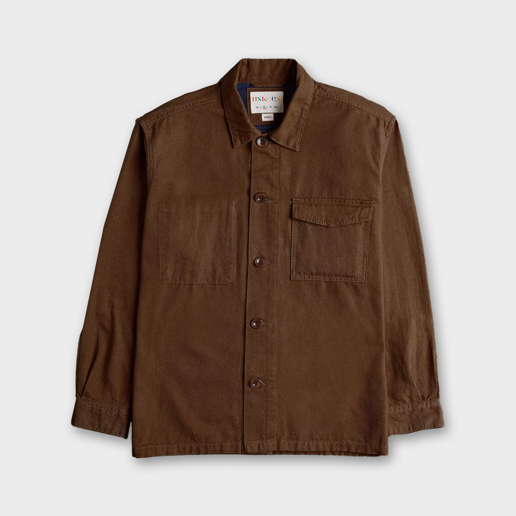 Uskees #3003 Organic Cotton Traditional Work Shirt - Brown