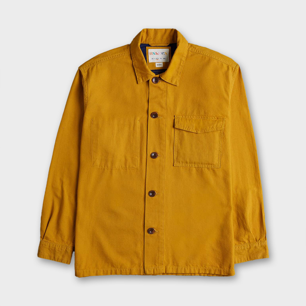 Uskees #3003 Organic Cotton Traditional Work Shirt - Yellow