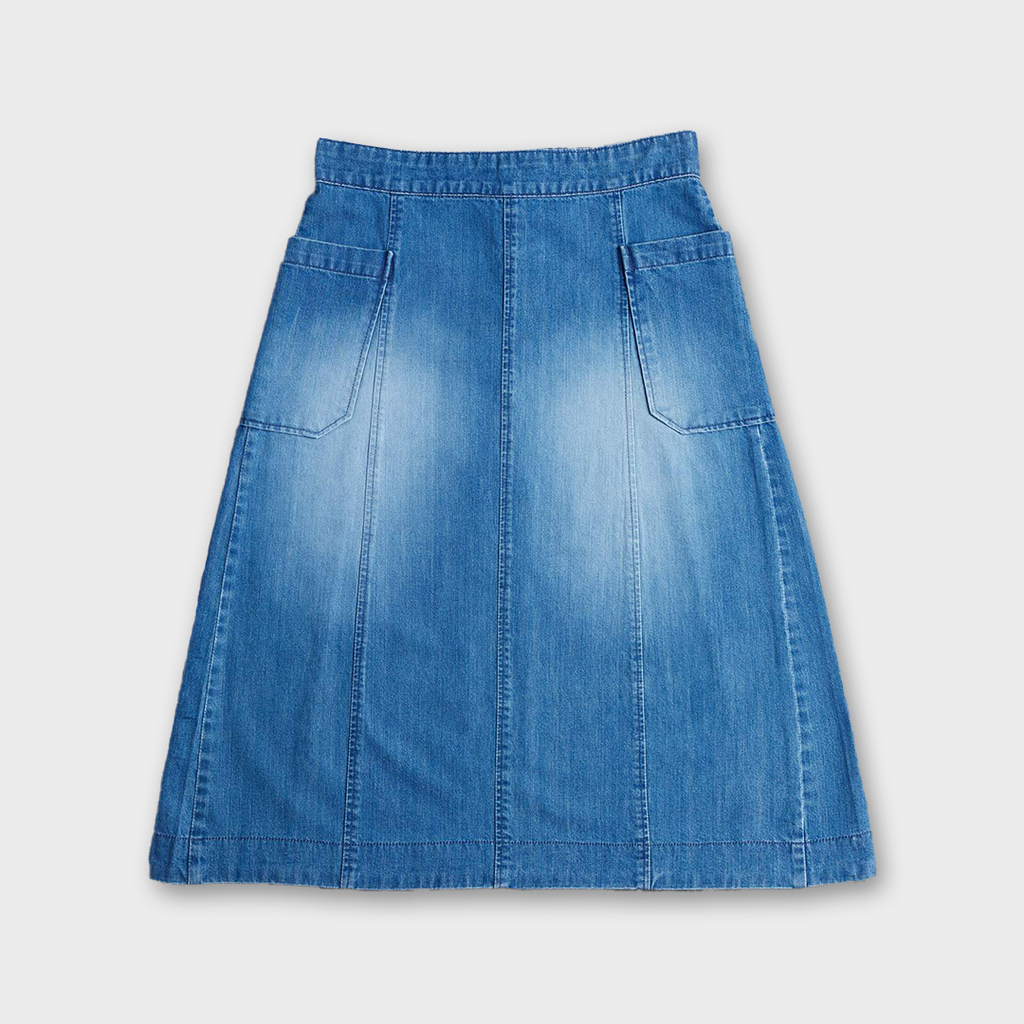 Uskees #8001 Women's Organic Cotton Panel Skirt - Washed