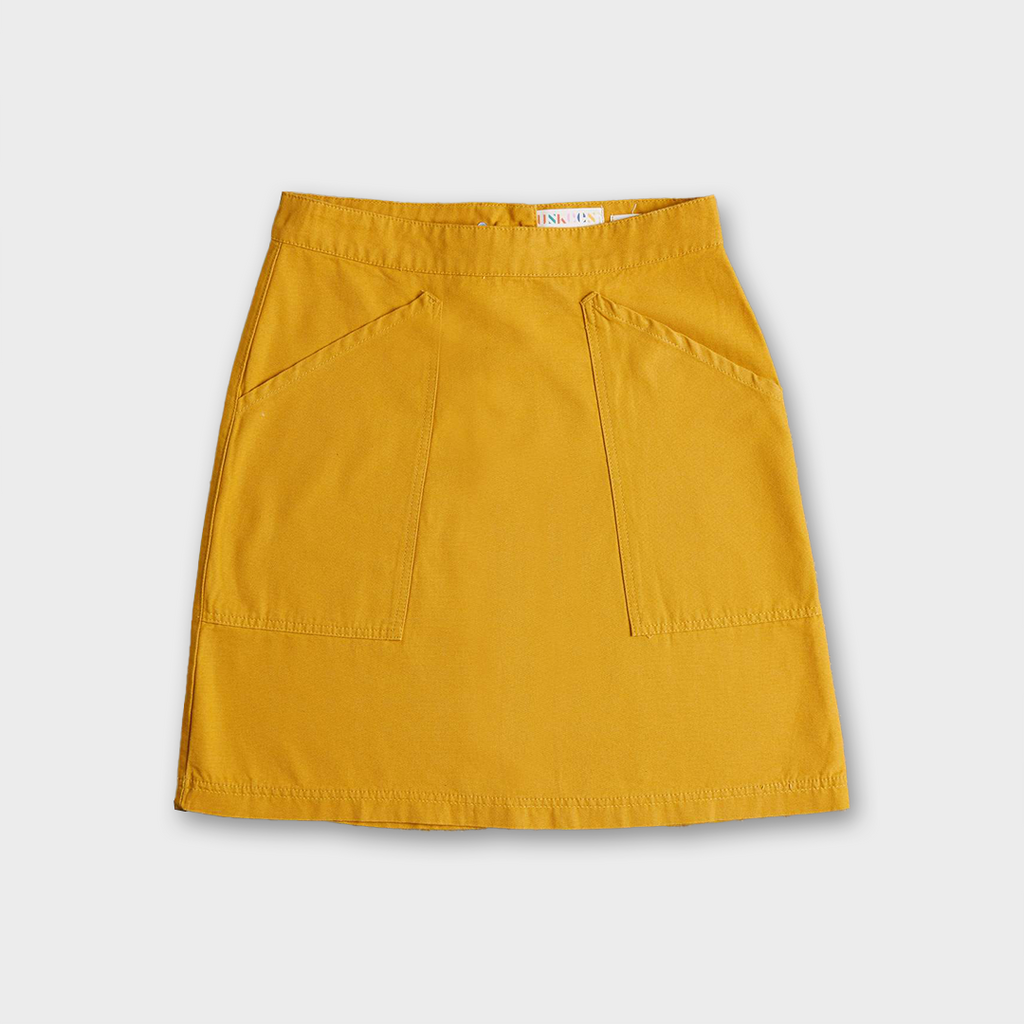 Uskees #8005 Women's Organic Cotton Utility Skirt - Yellow