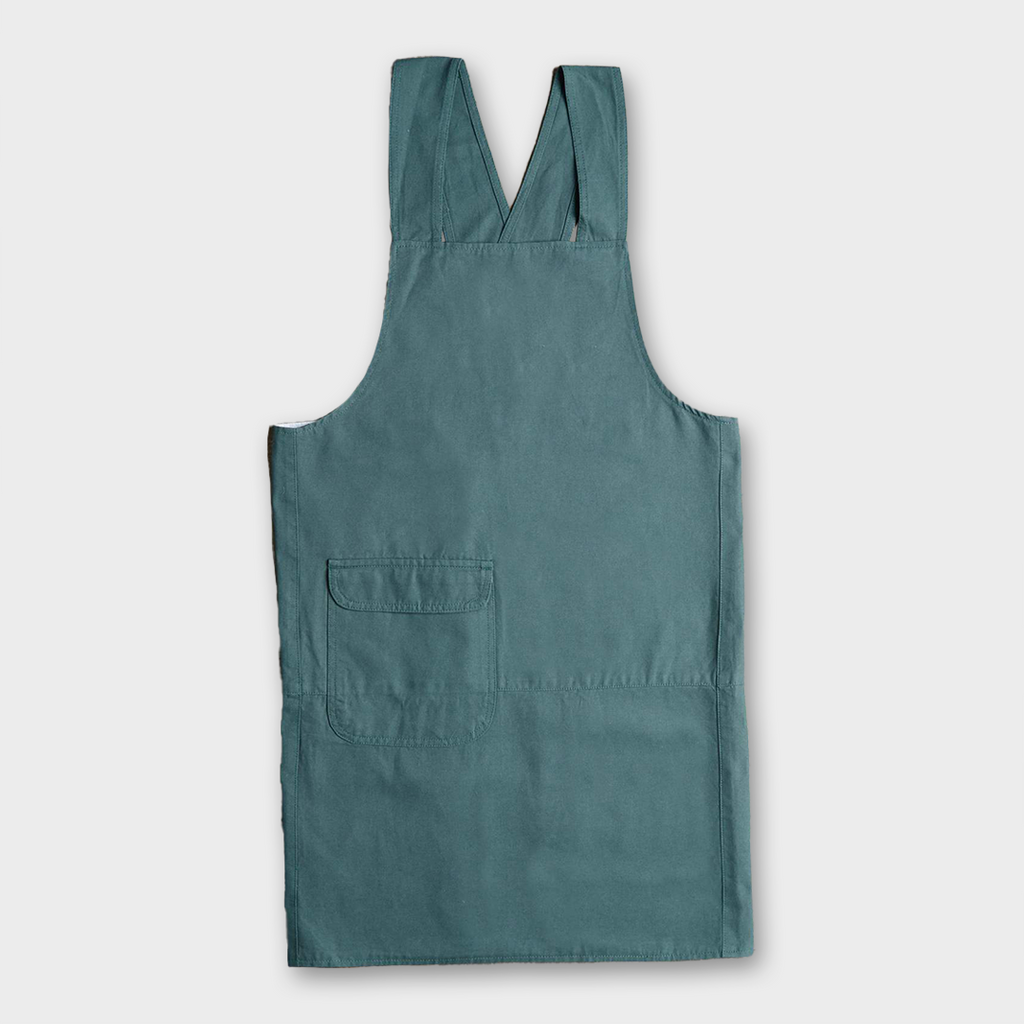 Uskees #9002 Organic Cotton Crossback Apron - Green