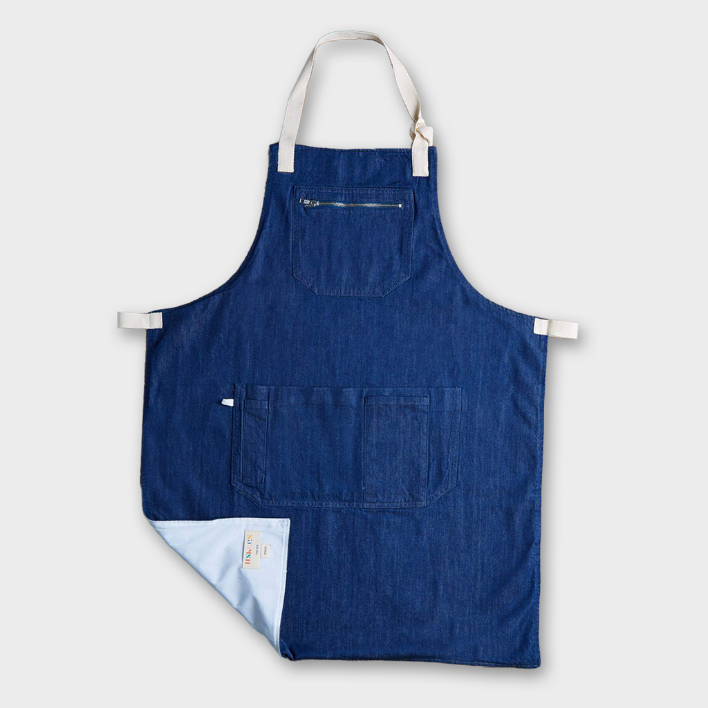 Uskees #9004 Organic Cotton Carpenter Apron - Rinsed Denim