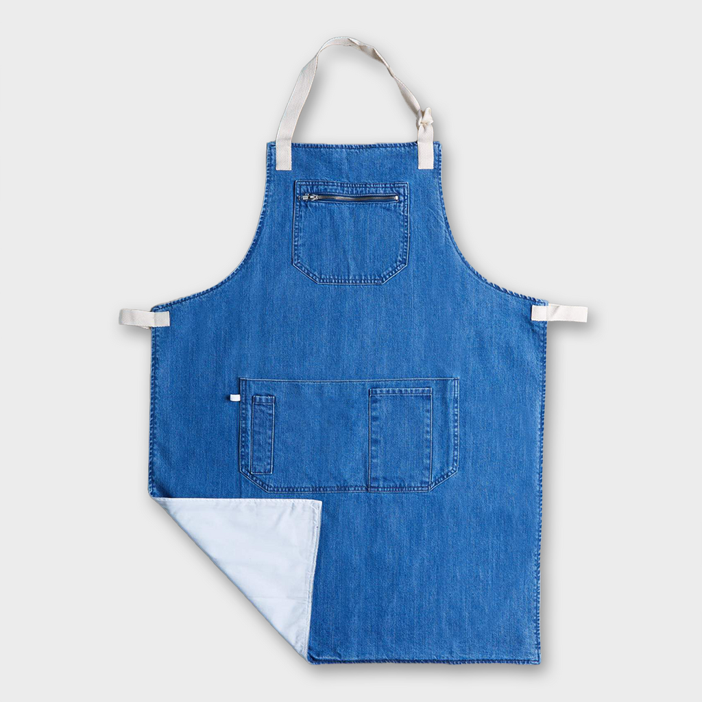 Uskees #9004 Organic Cotton Carpenter Apron - Washed Denim
