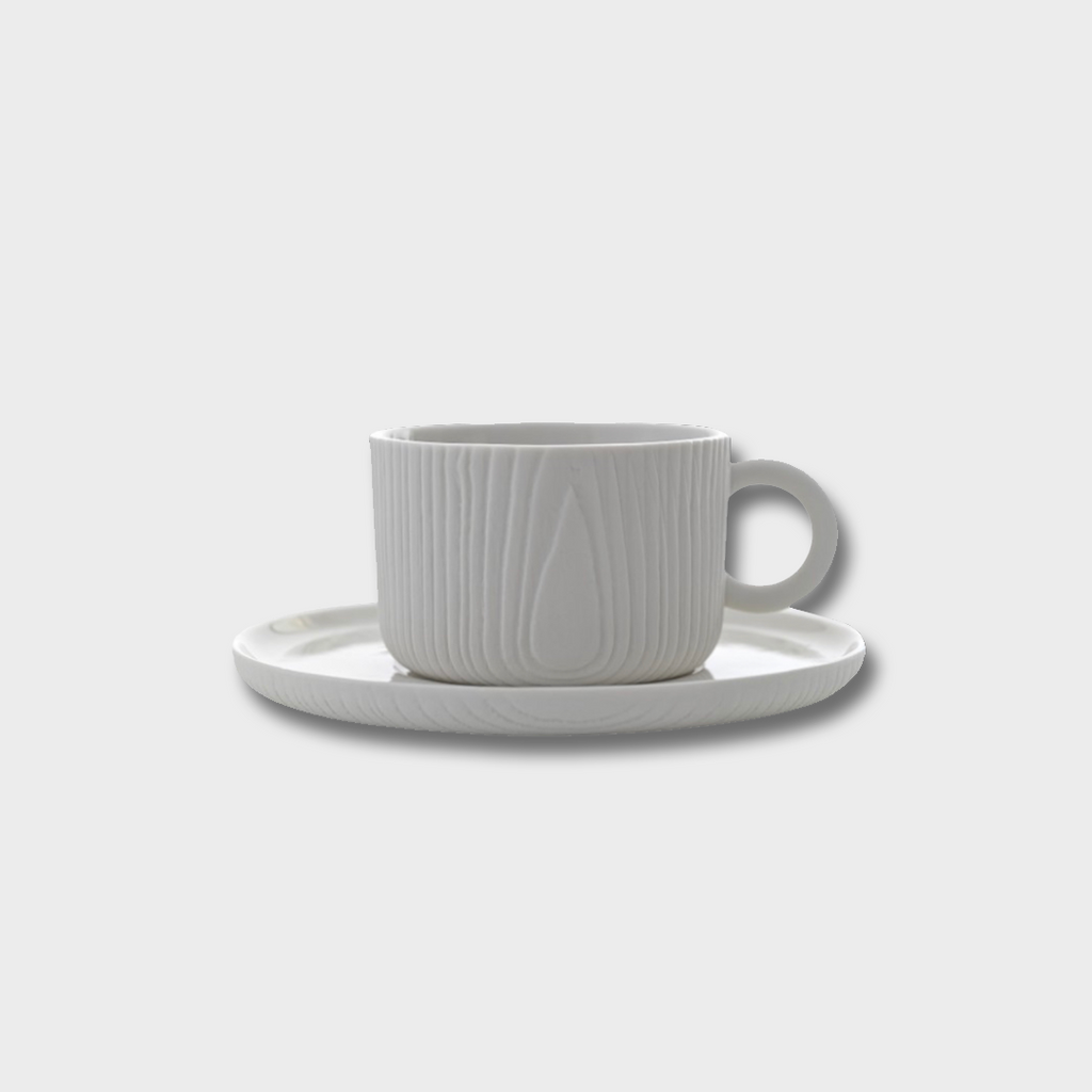 Toast Living MU Porcelain Cup & Saucer - White