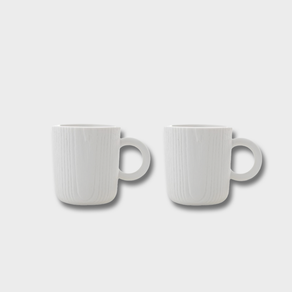 Toast Living MU Porcelain Mini Espresso Cups x 2 - Grey