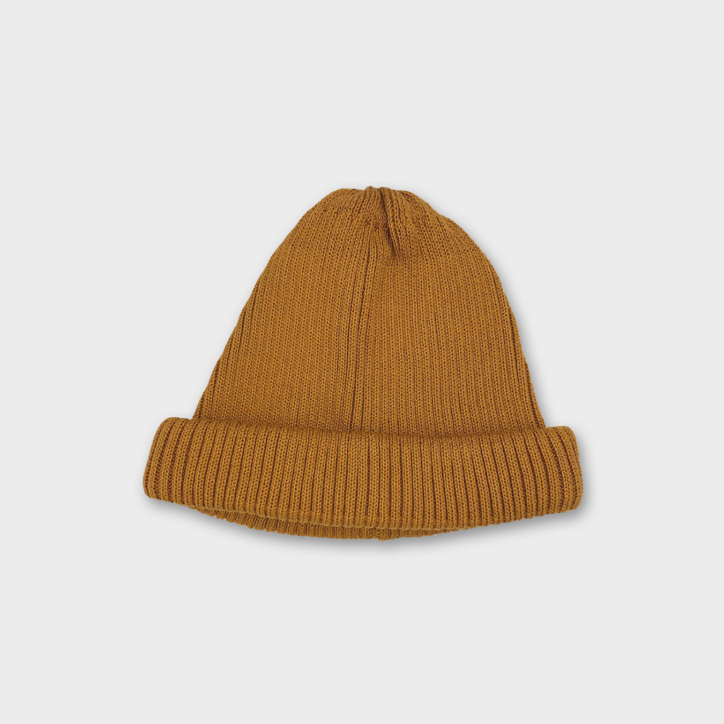 Ro To To Japan Cotton Roll Up Beanie - Yellow