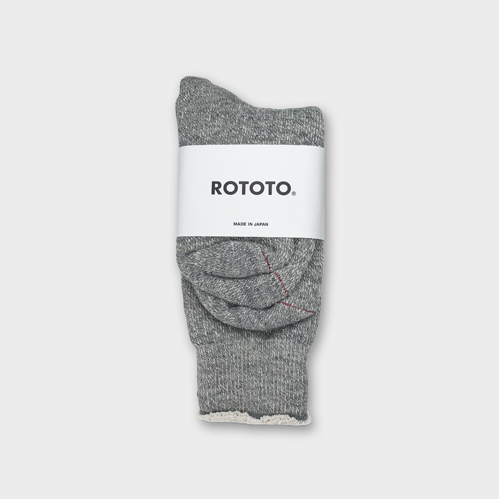 Ro To To Japan Double Face Socks - Medium Grey