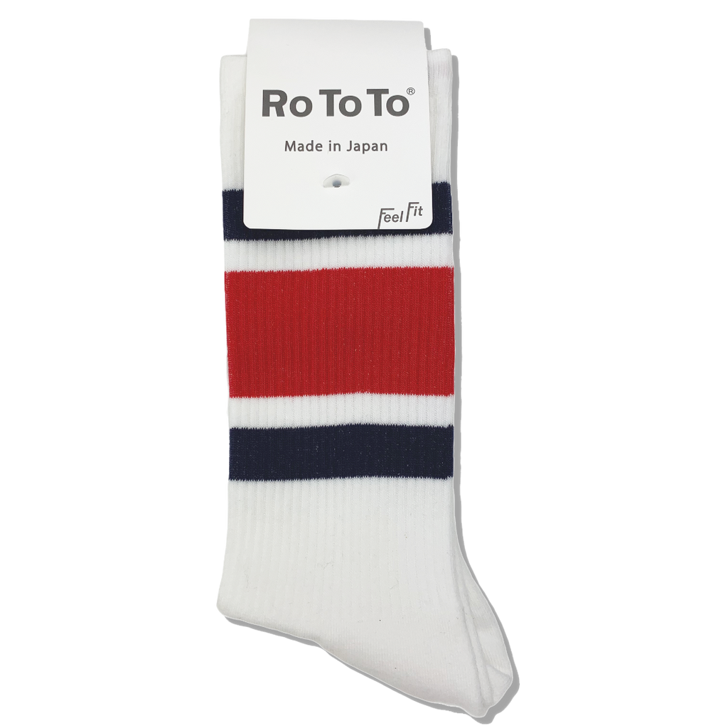 Ro To To Japan Newschool Socks - Navy / Red