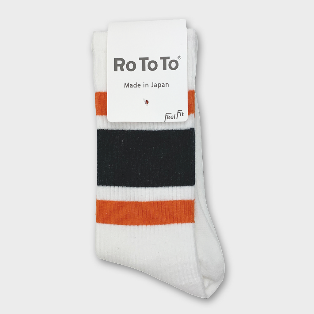 Ro To To Japan Newschool Socks - Orange / Black