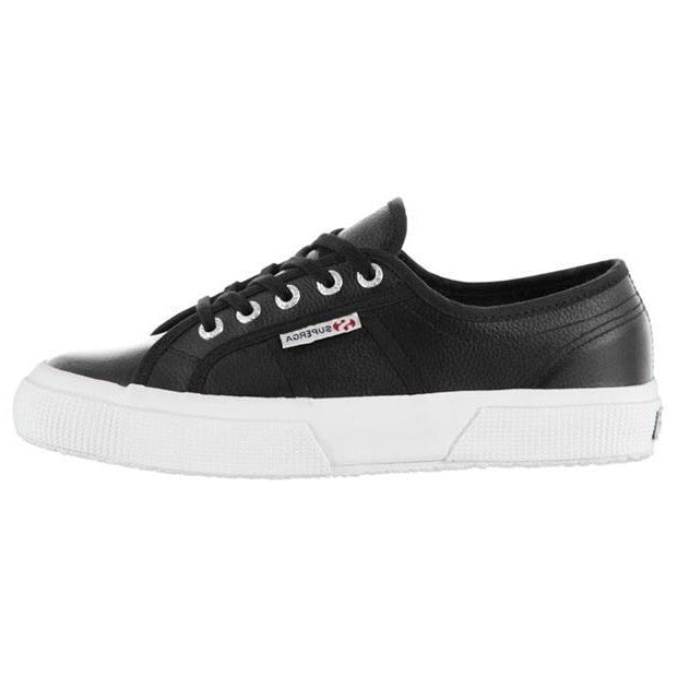 Superga Leather Trainers - Navy