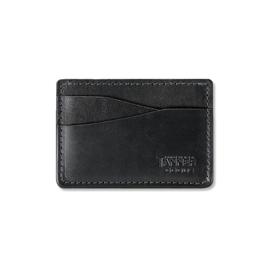 Tanner Goods Journeyman Leather Card Wallet - Black