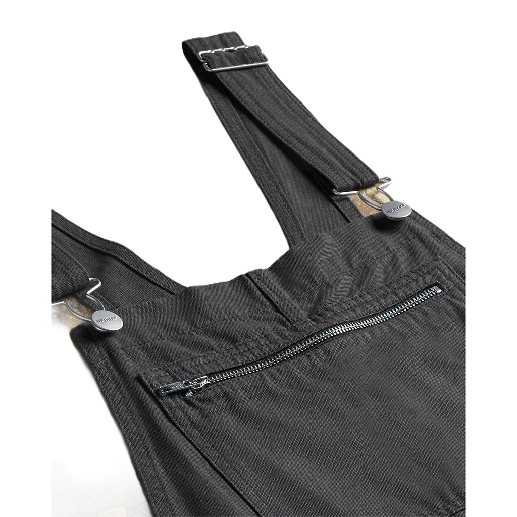 Uskees Mens #1002 Organic Bib Overall Dungarees - Faded Black