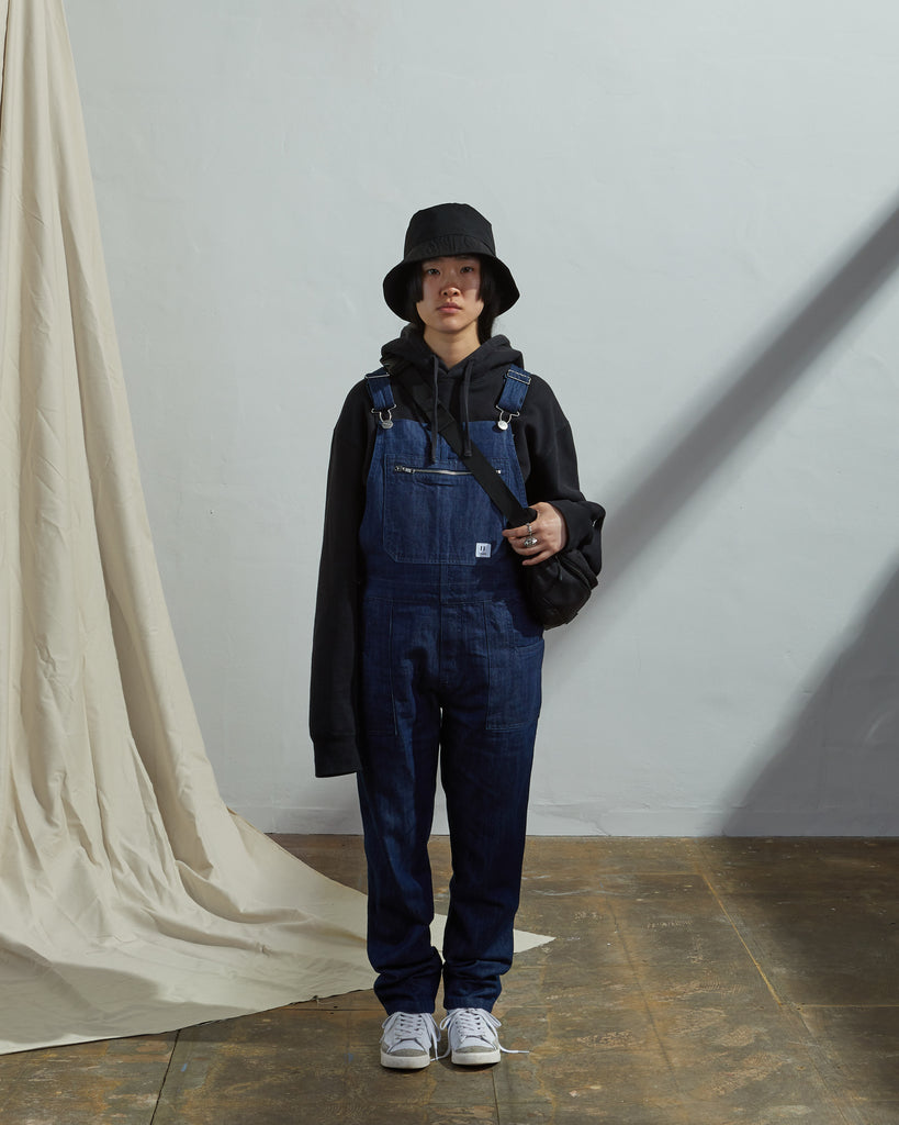 Uskees Women's #2001 Organic Bib Overall Dungarees - Rinsed