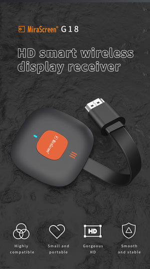 MiraScreen Miracast Wireless HDMI Display Adapter Compatible with Android/iOS/Windows to TV