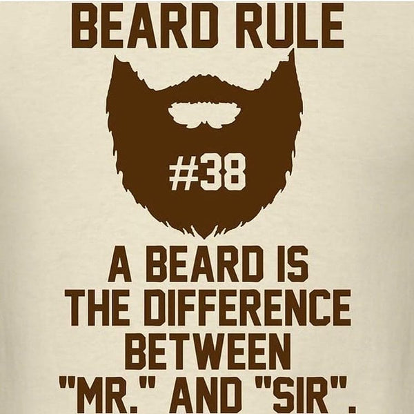 a beard is the difference between mr and sir