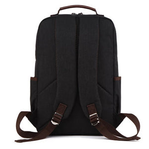 rear view of a mens backpack shoulder straps