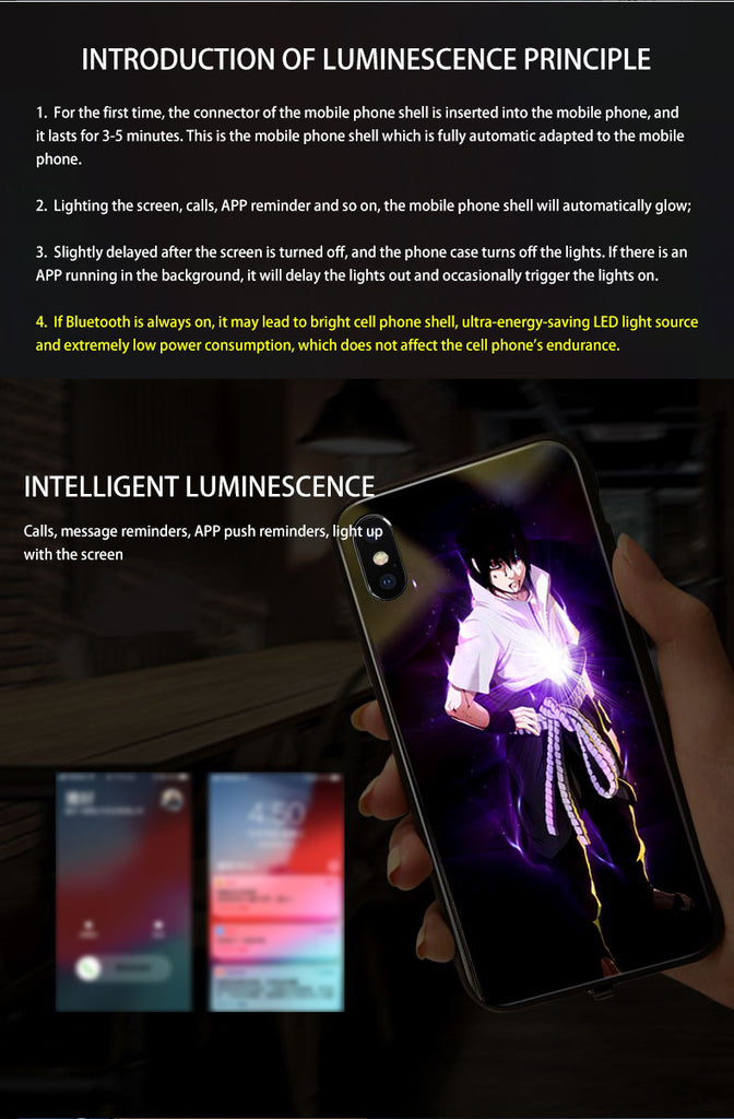【Tempered glass】Illuminated Cell Phone Case