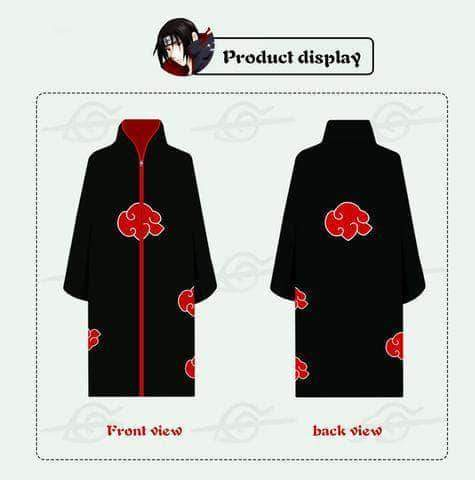 Akatsuki cloak red clouds gown nighty cos clothing coat