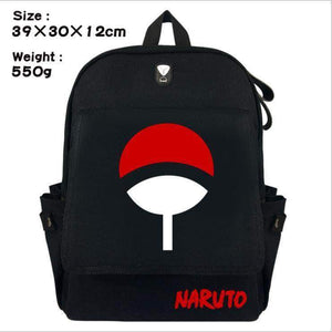 Backpack Canvas Red Cloud Large Capacity  Sasuke School Bag